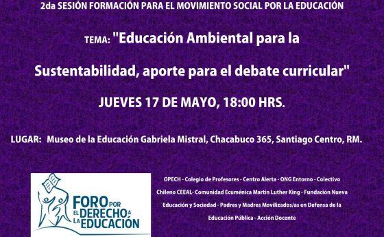 Segunda sesión de formación para el movimiento social