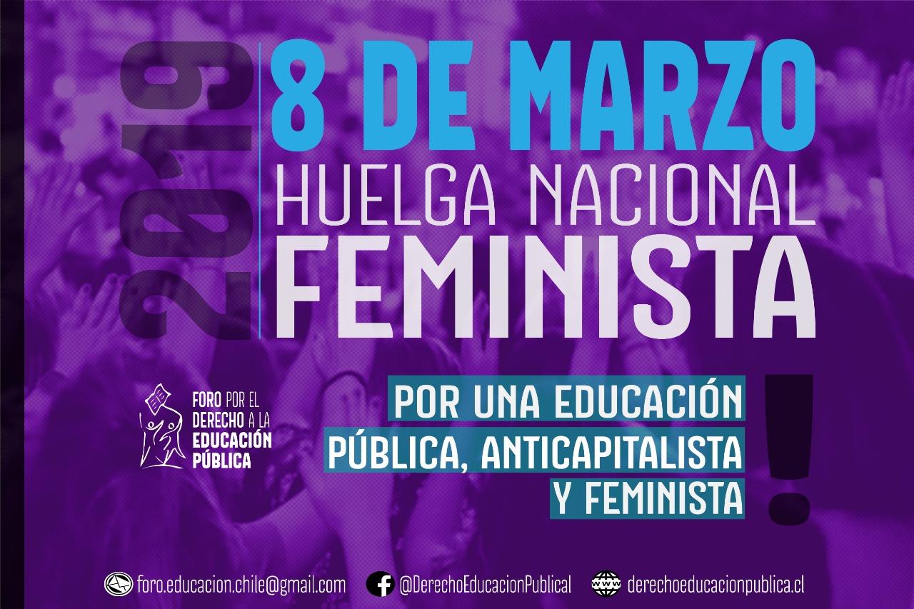 Por una Educación Pública, Feminista y Anticapitalista – 8 de Marzo, 2019